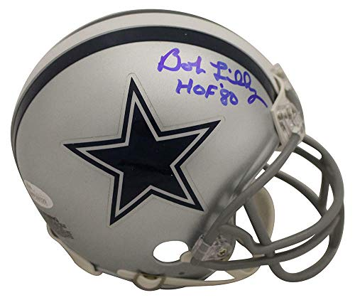 Bob Lilly Autographed/Signed Dallas Cowboys Mini Helmet HOF JSA