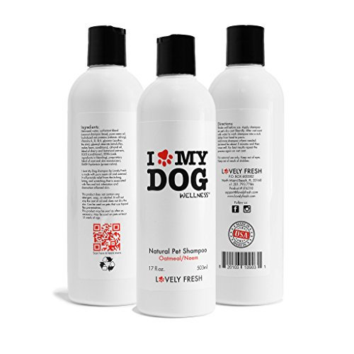 Dog Shampoo - Premium All Natural Grooming 3-in-1 Formula With Oatmeal and Neem- Relieves Skin Irritation, Moisturizes and Conditions, Keeps Insects Away - for Sensitive, Dry, Itchy, Normal Skin