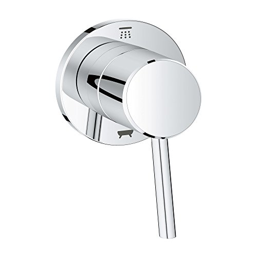 - Grohe 29104001 Concetto 1-Handle Diverter Trim Kit in Starlight Chrome (Valve Sold Separately)