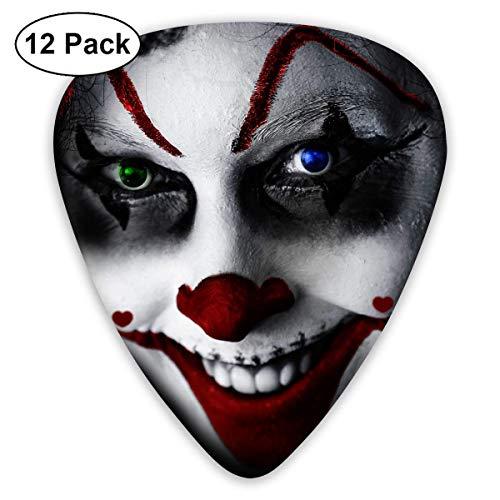 (HOOAL Custom Guitar Picks, Halloween Clown Creepy Face r Grin Blood Drop Guitar Pick,Jewelry Gift For Guitar Lover,12)