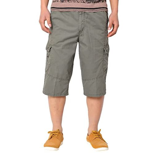 9db15590026 high-quality Panegy Men Cotton Overall Long Shorts Cargo Pant with Pocket  Military-Style
