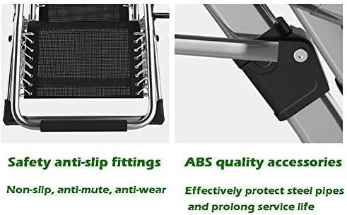 サンラウンジャー、折りたたみ式無重力リクライニングチェア屋外リクライニングラウンジチェア椅子ガーデン、パティオ、プールなどに最適65x75x115cm多機能チェア(色:黒)