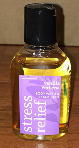 Aromatherapy Vanilla Verbena Body Wash and Foam Bath 2 Oz Tr