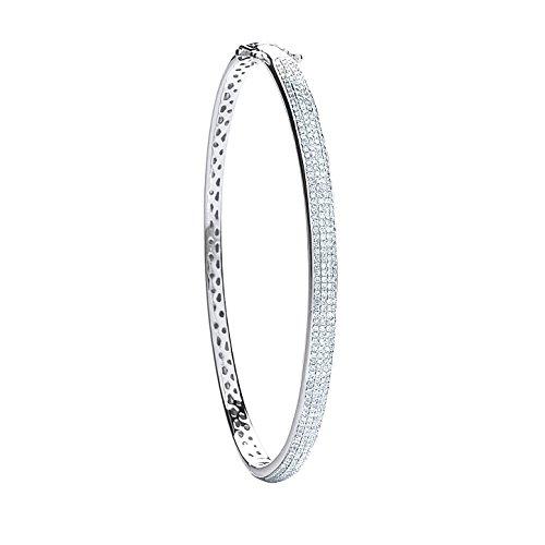 Or blanc 9ct 0,86CT serti de diamants Bracelet