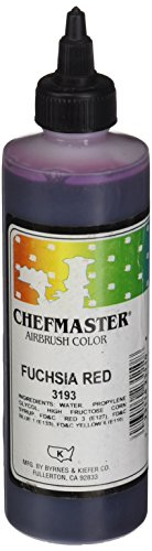 Chefmaster Airbrush Spray Food Color, 9-Ounce, Fuschia by Chefmaster