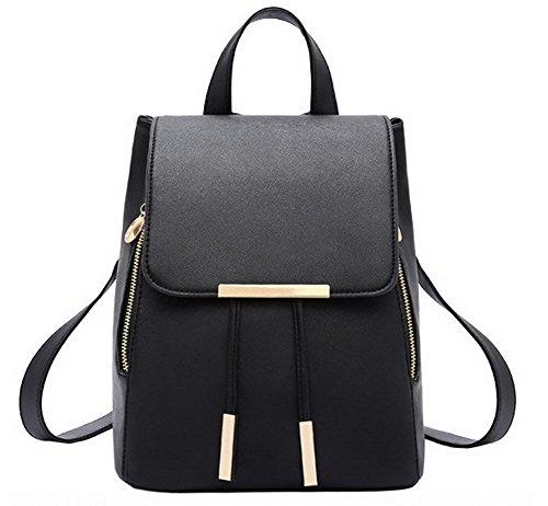 ordinateur portable Noir Femme pour Mode Zippers Foncé Sacs Voyage AllhqFashion Nylon Bleu d0nTAWgT8