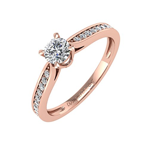 IGI Certified 10K Gold Diamond Engagement Band Ring (0.26 Carat)
