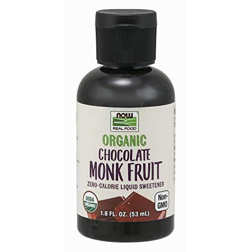 Now Foods Organic Liquid Monk Fruit, Chocolate, 1.8 oz