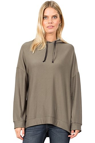T31126 Kimono Sleeve Soft Brushed Hoodie Top With Side for sale  Delivered anywhere in USA