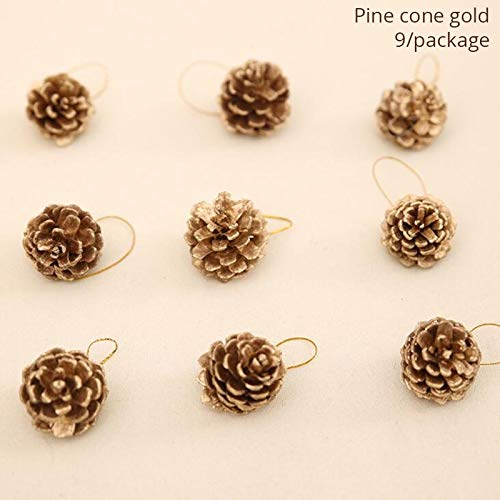 (VietNewYear Party DIY Decorations - 10/15/20/25/30cm Natural Rattan Wreaths and Mini Artificial Christmas Tree Wooden Tree Pendants Supplies 1)