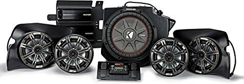 (Kicker & SSV Works 44PRZ33 800 Watt, 5 Speaker, Plug And Play Polaris RZR Stereo System - Fits 2013 and Up Polaris)