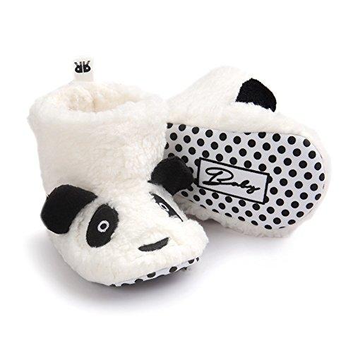 Fire Frog Cartoon Winter Boots - Patucos para niño White Panda