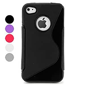 CeeMart Pure Color Protective Case for iPhone 4 and 4S Rose