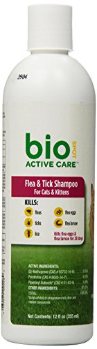 BioSpot Active Care F&T Shampoo Cats and Kittens 12 oz (Bio Flea And Tick Spot On Reviews)