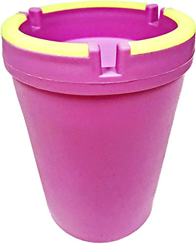VIP Home Essentials Stub Out Glow in The Dark Cup-Style Self-Extinguishing Butt Bucket Ashtray (Pink, Regular)
