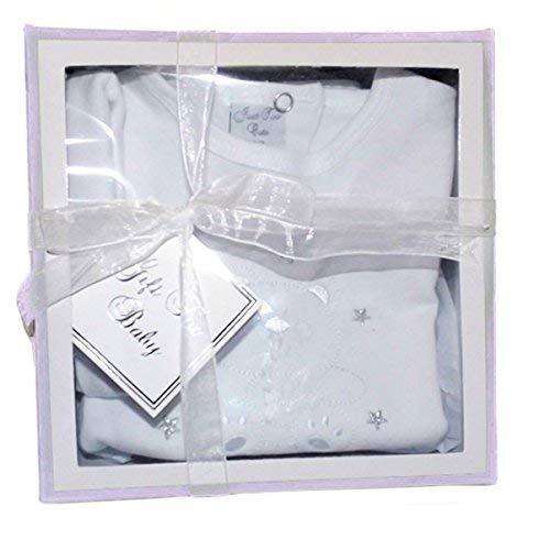 3-teiliges Baby-Set Shirt Leggings Mütze ´WELCOME IN THE WORLD` in weiss für 0-3 Monate