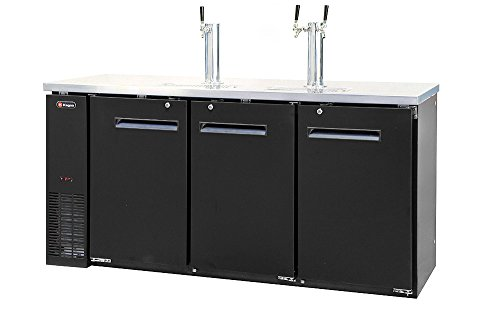 Kegco Kegerator Commercial Three Keg Beer Cooler Refrigerator - Three Faucet