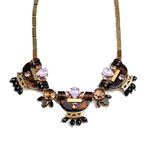 J.Crew Tortoise Crystal Statement Necklace for sale  Delivered anywhere in USA