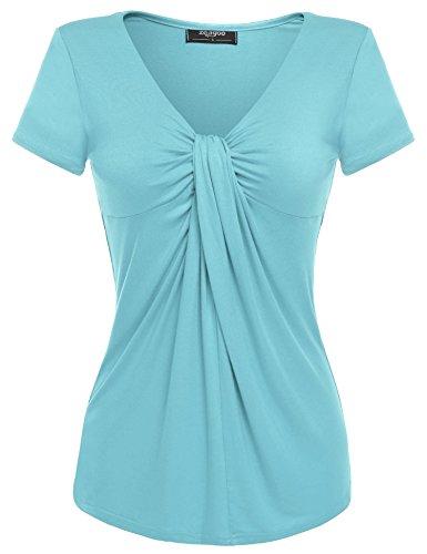 Camisas Zeagoo Mujer Celeste Para Azul FqZqd