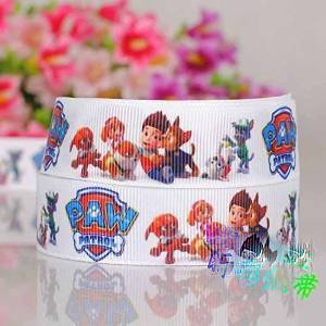 (10 Yards 7/8 Inch Paw Patrol Dogs Cartoon Printed Grosgrain Ribbon Decoration DIY Gift Ribbon)