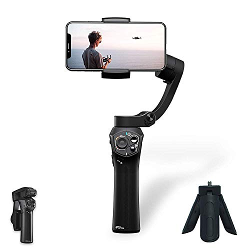 [Official Store] Snoppa Atom a Pocket Sized 3 axis Smartphone Handheld Gimbal Stabilizer w/Focus Pull & Zoom for iPhone Xs Max Xr X 8 Plus 7 6 SE Android Smartphone Samsung Galaxy S9+ S9 S8+ S8 S7 (Best Dslr Camera On The Market 2019)