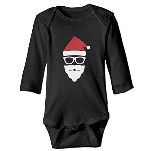 CoolTlong Christmas Trap Dubstep The Dirty Nutcracker Baby Girls Classical Long Sleeved Jumpsuit Cute Long-Sleeve Bodysuit Footies Black