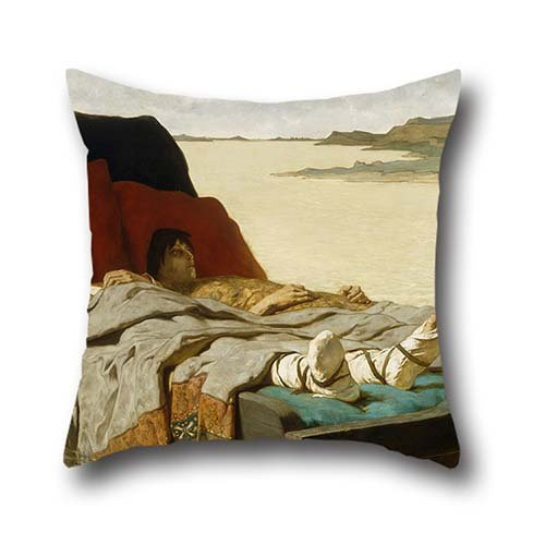 16 X 16 Inch / 40 By 40 Cm Oil Painting Evariste Luminais - The Sons Of Clovis II Pillow Shams,two Sides Is Fit For Bf,seat,boys,gril Friend,teens ()