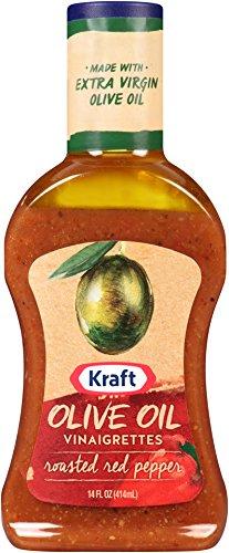 Kraft Olive Oil  Vinaigrette Roasted Red Pepper Salad Dressing 14 oz (Roasted Red Pepper Recipe)