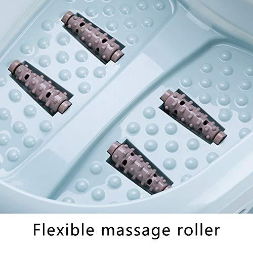 Fu/ßbad GoodFaith Faltbarer Massageeimer Violett Massageroller beruhigende Vibrationsmassage Faltbarer Fu/ß-Spa-Massageger/ät