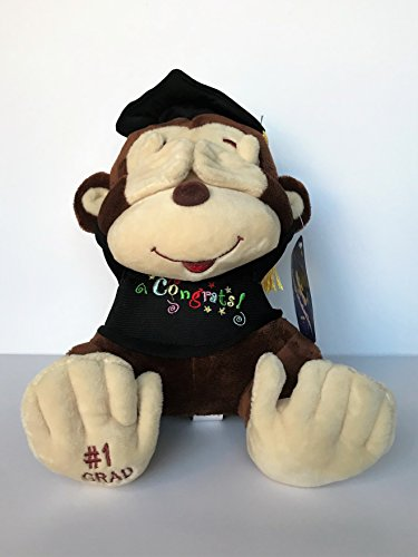 Cute Little Monkey - L.Toys Cute Thom Graduation Monkey, Doing a See no Evil Pose, 9