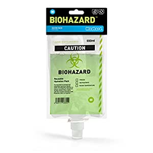 Mustard M 12009 Biohazard Reusable Drink Pouch, Clear