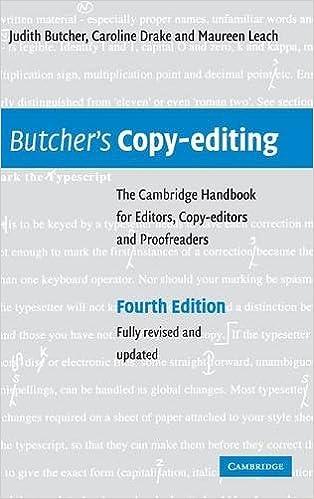 Butcher's Copy-editing: The Cambridge Handbook for Editors
