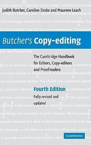 Array - butcher u0027s copy editing  the cambridge handbook for editors copy      rh   amazon com
