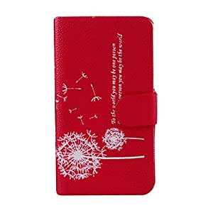 Dandelion Pattern Leather Stand Case for Samsung Galaxy S4 I9500 --- COLOR:Black