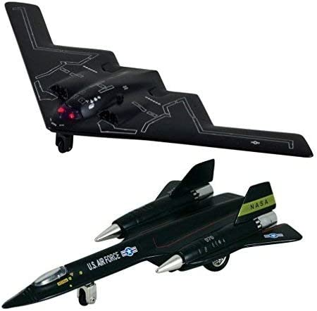 Black X-Planes Air Force B-2 Stealth Bomber Die Cast Jet Plane Toy with Pull