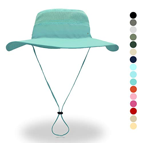 belababy Outdoor Sun Hat Quick-Dry Breathable Mesh Hat Camping Cap Light Blue
