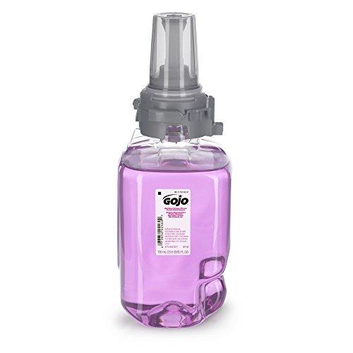 (GOJO ADX-7 Antibacterial Foam Handwash, Plum Fragrance, 700 mL Hand Soap Refill for GOJO ADX-7 Push-Style Dispenser (Case of 4) - 8712-04 )