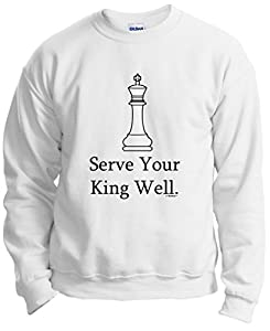 Chess Player Serve Your King Well Crewneck Sweatshirt