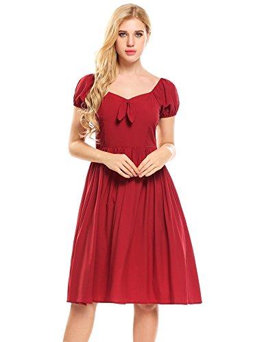 Puff Sleeve Dress - 1
