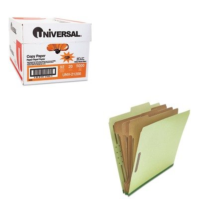KITUNV10291UNV21200 - Value Kit - Universal Pressboard Classification Folder (UNV10291) and Universal Copy Paper (UNV21200)