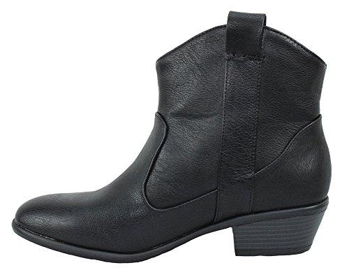 Boots Women 17 Pointy Wild Booties Black Manny Diva Western Cowgirl Pu Cowboy Ankle xZIxTBwUqH