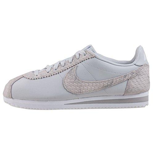 Nike Damer Cortez Læder Afslappet Sko Ren Platin / Ren Platin sKiEGZF