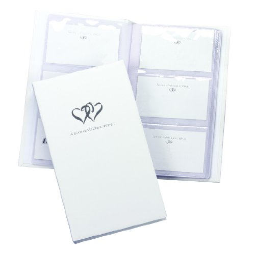 Hortense B. Hewitt Wedding Accessories Book of Wedding Wishes Set, Linked Hearts