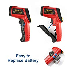 AstroAI Digital Laser Infrared Thermometer, 550 Non-contact Temperature Gun with Range of -58?~1022? (-50??550?), Red