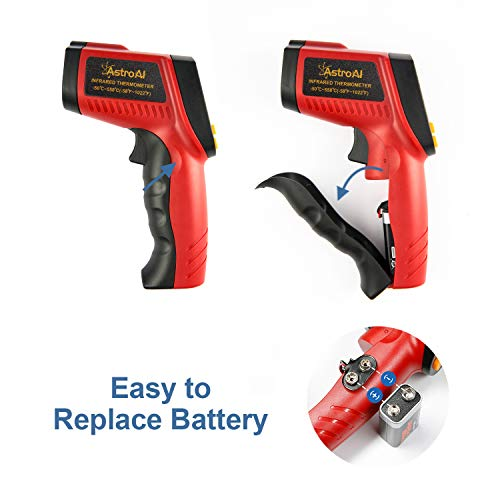 AstroAI Digital Laser Infrared Thermometer, 550 Non-contact Temperature Gun with Range of -58℉~1022℉ (-50℃~550℃), Red by AstroAI (Image #1)