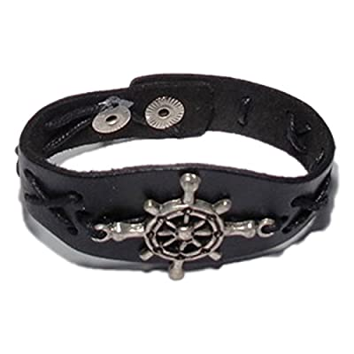 AUTHENTIC HANDMADE Leather Bracelet, Men Women Wristbands Braided Bangle Craft Multi [SKU001955]
