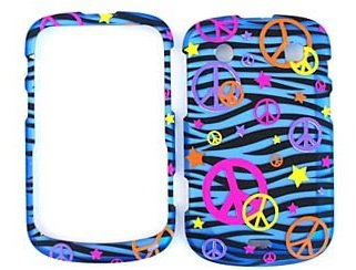 Faceplate Design Blue Star - [WG] BLUE BLACK ZEBRA ORANGE YELLOW PURPLE PINK COLORFUL PEACE STAR RUBBERIZED SNAP ON DESIGN HARD CASE FACEPLATE FOR BLACKBERRY 9900 / 9930 + FREE DETACHABLE NECK STRAP / LANYARD