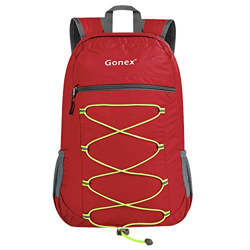 Price comparison product image Gonex 25L Lightweight Packable Backpack Handy Foldable Shoulder Bag Daypack(Red)