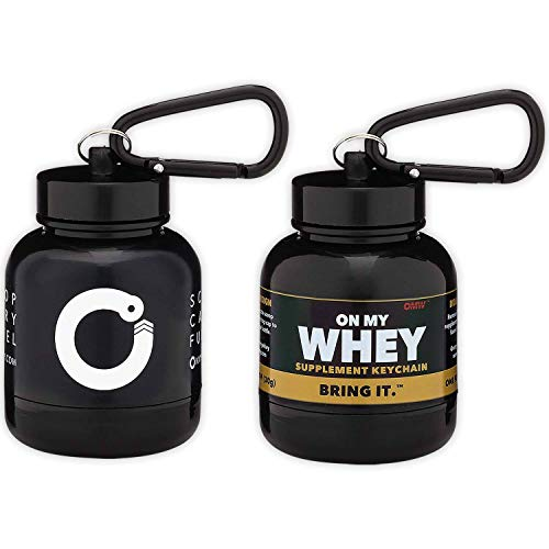 OnMyWhey - Portable Protein and Supplement Powder Funnel Key-Chain - Classic + Modern Combo Pack