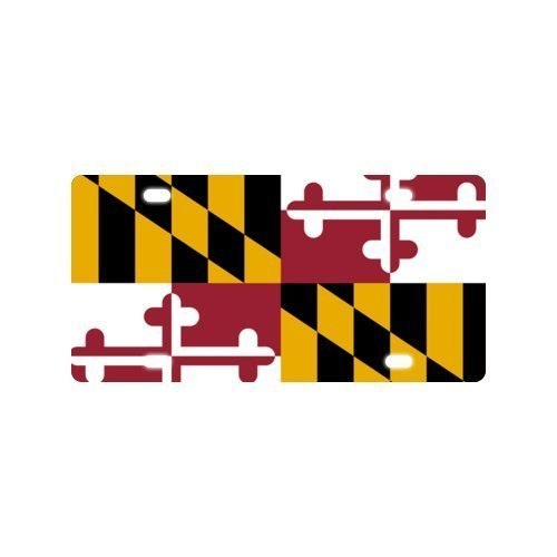 Maryland State Flag Metal Aluminum License Plate Car Truck